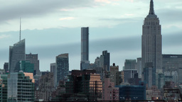 USA New York City 381 nice daybreak mood Manhattan Midtown Empire State Building Footage