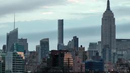 USA New York City 381 nice daybreak mood Manhattan Midtown Empire State Building Footage