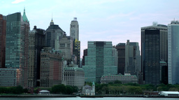 USA New York City 378 fantastic slow move along Lower Manhattan at daybreak Footage
