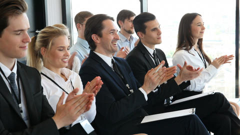 Business people clapping hands Footage
