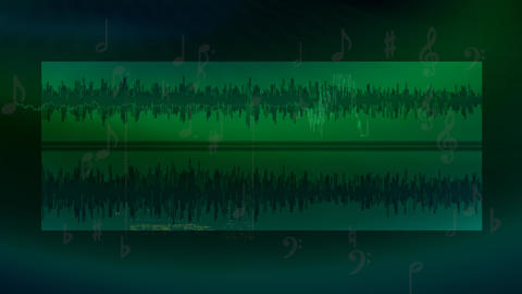 Green audio background Animation