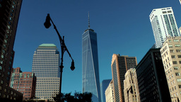 New York City 433 Lower Manhattan financial district with world trade center Footage