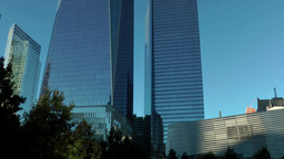 New York City 438 Manhattan One World Trade Center and 9/11 Memorial south pool Footage