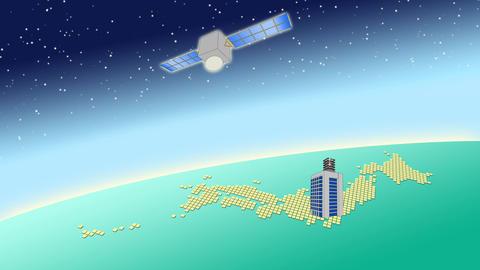 衛星通信イメージ CG動画素材