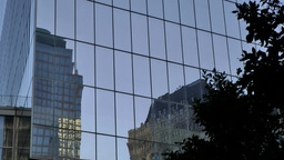 New York City 447 Manhattan One World Trade Center glass facade Footage