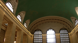 New York City 454 midtown Grand Central Terminal view under the vault Footage