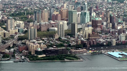 New York City 465 Brooklyn cityscape seen from top of new One World Trade Center Footage
