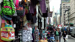 New York City 472 downtown Chinatown; clothes and souvenirs in Lafayette street Footage