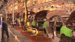 China car factory Footage
