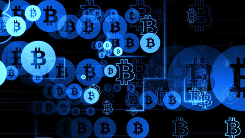 Code bitcoin blue Animation