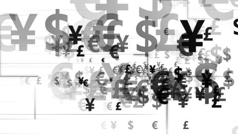 Code currency black background white Animation