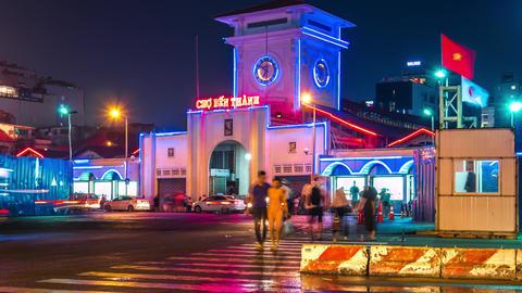 Ben Thanh Market Time Lapse Live Action