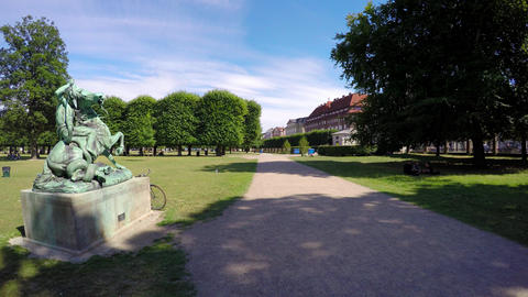 Recreation Park in Copenhagen. Denmark. 4K Live Action