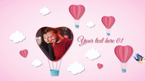 Valentine Day Slide Show After Effects Template