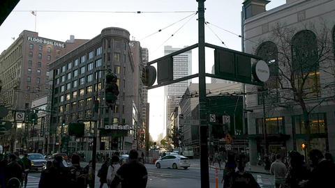People Walking the Streets of San Francisco ビデオ