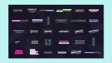 Original Titles Motion Graphics Template