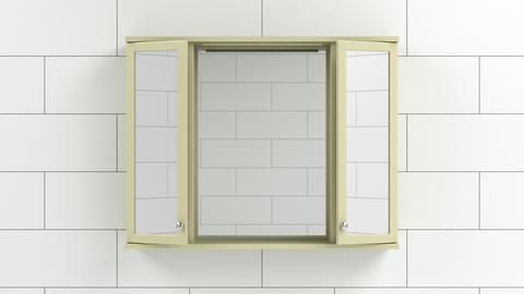 Mirror cabinet in the bathroom Animation