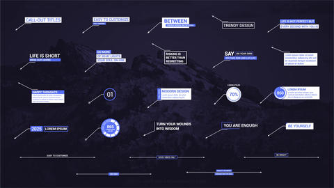 Original Call-outs Motion Graphics Template