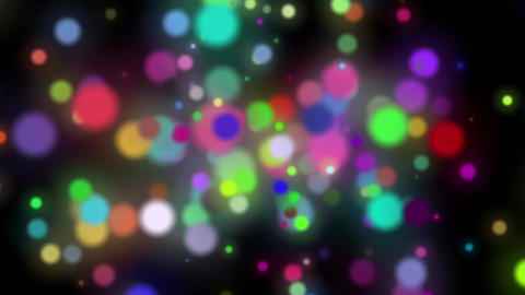 Fast Colorful Dark Swirling Particles Rotating Abstract Motion Background Loop Animation