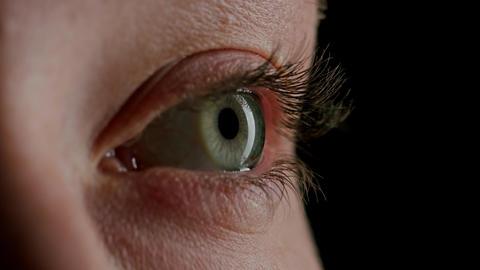 Close-up Beautiful Blue Eye ビデオ