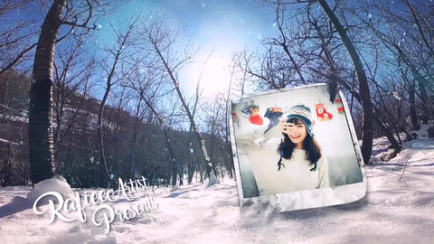 Winter Slide After Effects Template