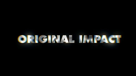 Original impact - text animation motion typographics art visual vj clip Live Action