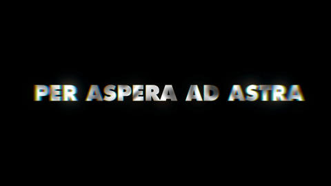 Per aspera ad astra - text animation motion typographics art visual vj clip Live Action