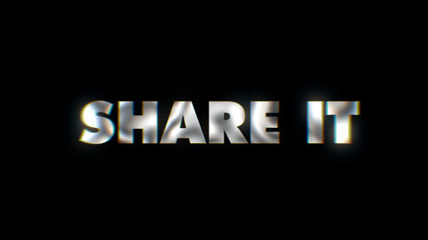 Share it - text animation typeface slogan motion background Live Action