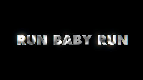 Run baby run - text animation motion typographics art visual vj clip Live Action