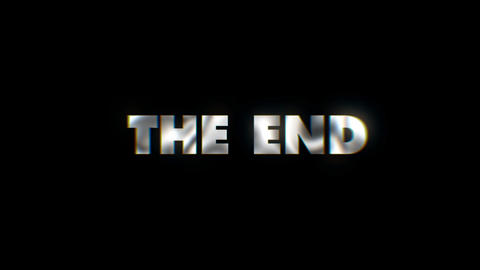 The end - text animation motion typographics art visual vj clip Live Action