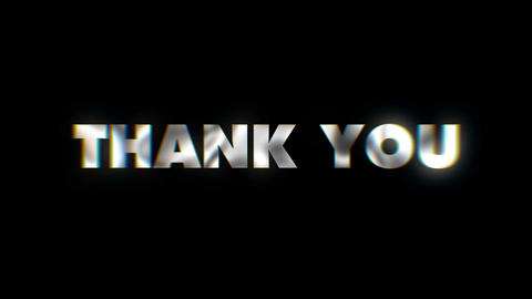 Thank you - text animation motion typographics art visual vj clip Live Action