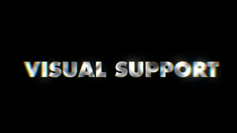 Visual Support - text animation motion typographics art visual vj clip Live Action