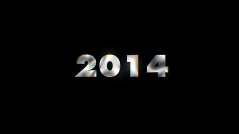 2014 year - text animation motion typographics art visual vj clip Live Action