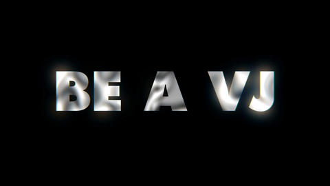 Be a vj - word animated text motion typographics slogan typeface vj loop Live Action