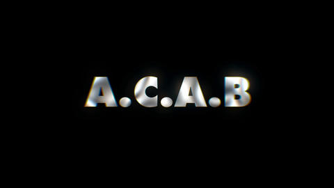 ACAB - text animation motion typographics art visual vj clip Live Action