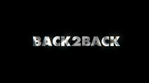 Back to back - text animation typeface slogan motion background Live Action