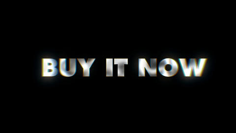 Buy it now - text animation motion typographics art visual vj clip Live Action
