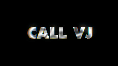 Call VJ - text animation motion typographics art visual vj clip Live Action