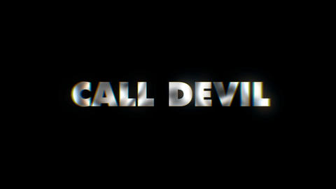 Call devil - text animation motion typographics art visual vj clip Live Action