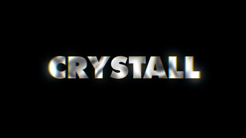 Crystall - text animation motion typographics art visual vj clip Live Action