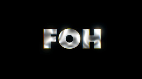 FOH - word animated text motion typographics slogan typeface vj loop Live Action