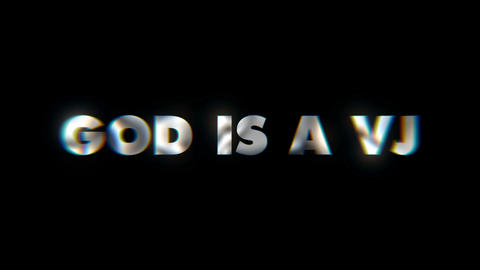 God is a VJ Key word animated typographics slogan typeface vj loop Live Action
