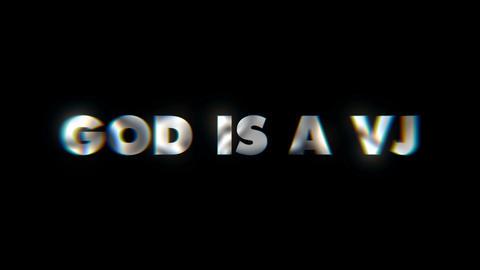 God is a VJ Key word animated typographics slogan typeface vj loop Footage