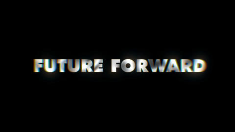 Future forward - text animation typeface slogan motion background Footage