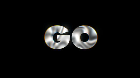 Go - text animation motion typographics art visual vj clip Live Action