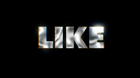Like - Key word animated typographics slogan typeface vj loop ビデオ