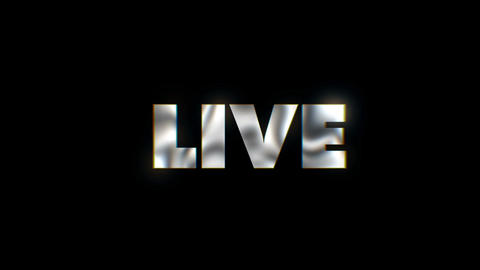 Live - text animation motion typographics art visual vj clip Live Action