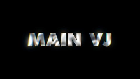 Main Vj - Key word animated typographics slogan typeface vj loop Live Action