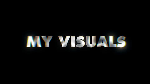 My Visuals - text animation motion typographics art visual vj clip Live Action