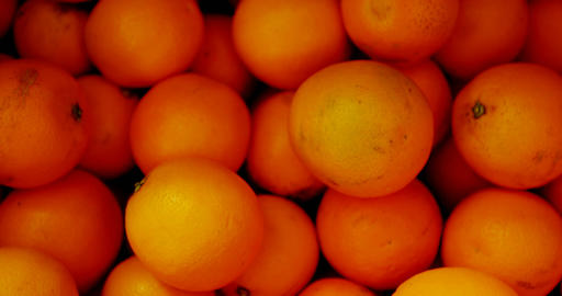 Close-up of orange fruits in basket at supermarket 4k Live Action